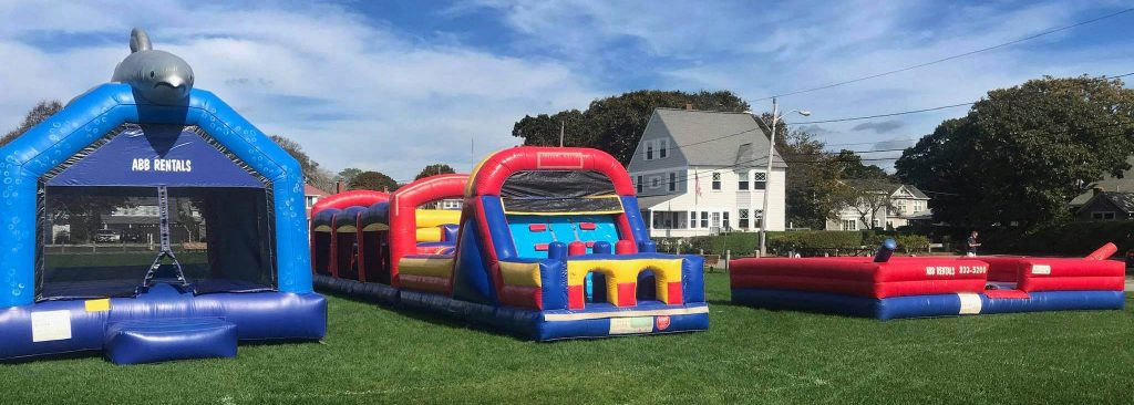 inflatable rentals at outside event