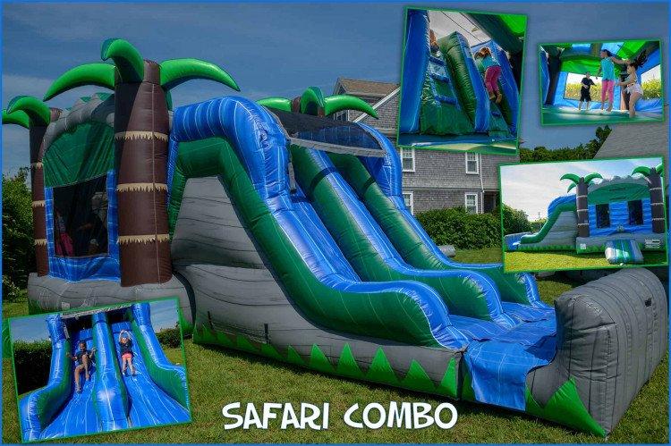 Safari Combo bounce house with slides 1 1615170923 big Safari Combo