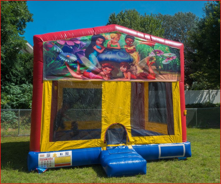 tinkerbell theme bounce house rental 1615502858 big Themed Bouncer