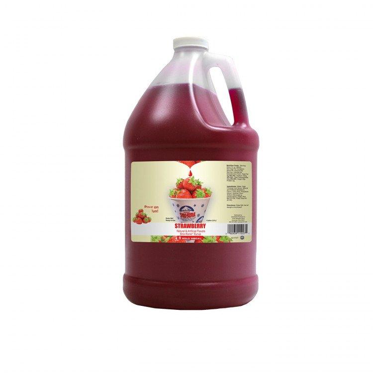 Sno-Kone Syrup - 1 Gallon - Strawberry