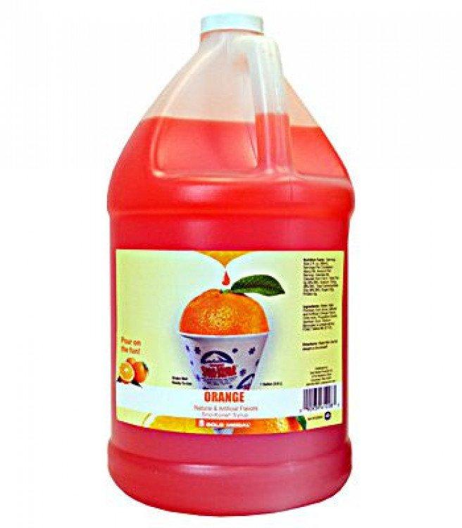 Sno-Kone Syrup - 1 Gallon - Orange