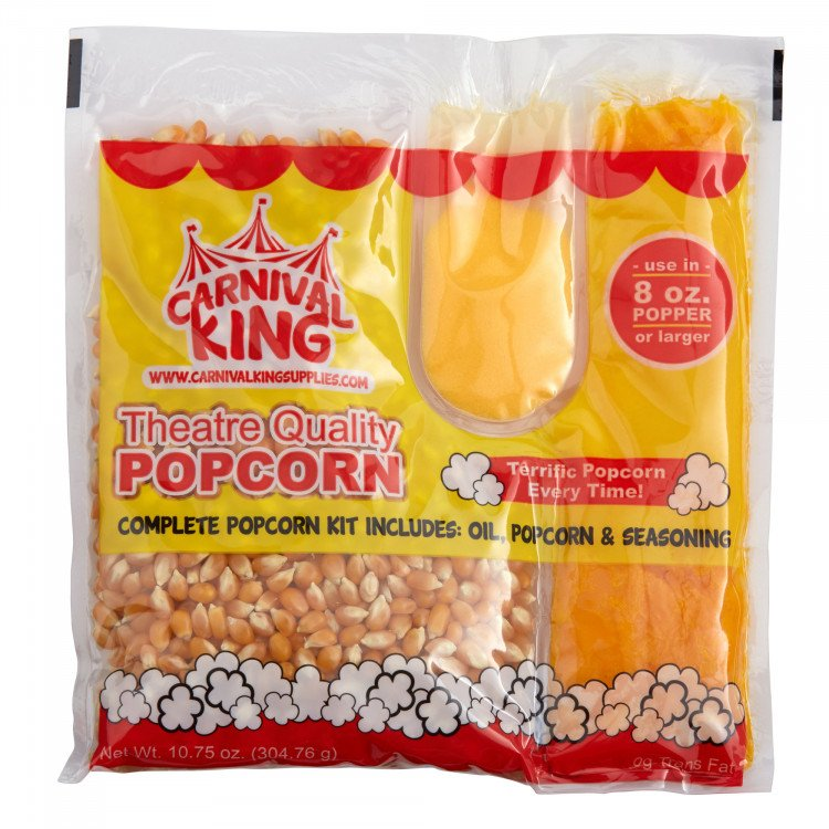 Popcorn Kernels & Butter - Serves 8 people
